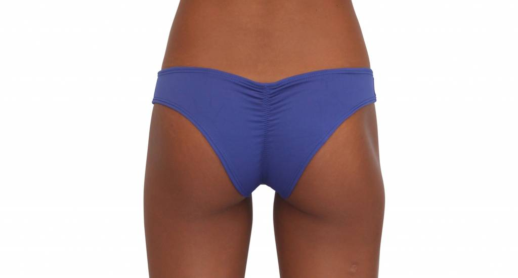 Pualani Scrunch Bootie Bottom Blue Violet Solid