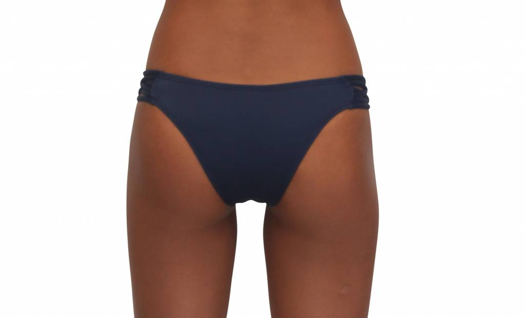 Pualani Skimpy Love with Braided Sides Navy Solid
