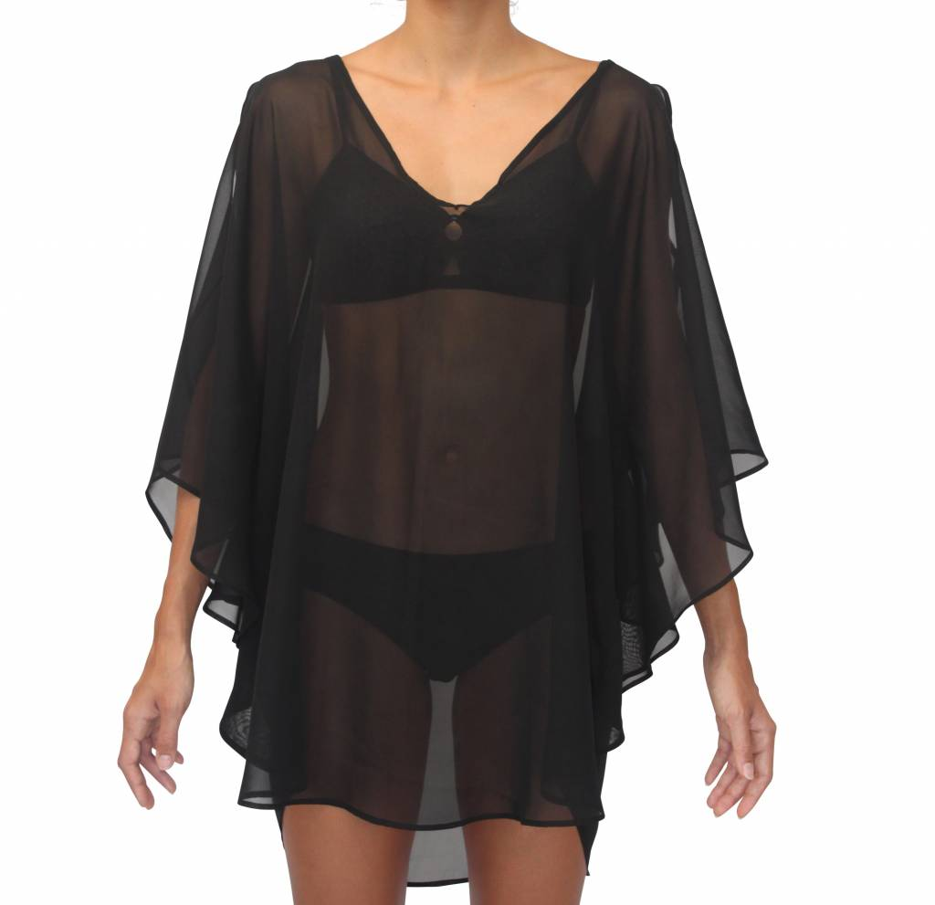 Butterfly Coverup Black Solid