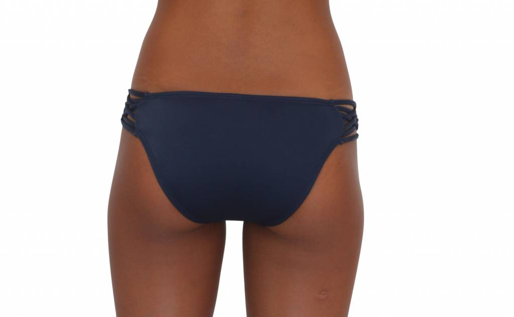 Pualani Scoop w/ Side Strings Navy Solid