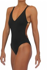 Skimpy Bottom One Piece Black Solid