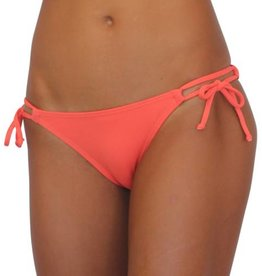 Pualani Double Tie Side Coral Solid
