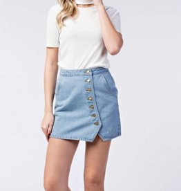 HONEY BELLE KENDRA BUTTON SKIRT