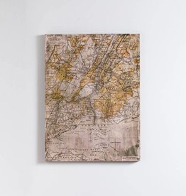 "Vintage New York Map 24x32"" Wall Art"