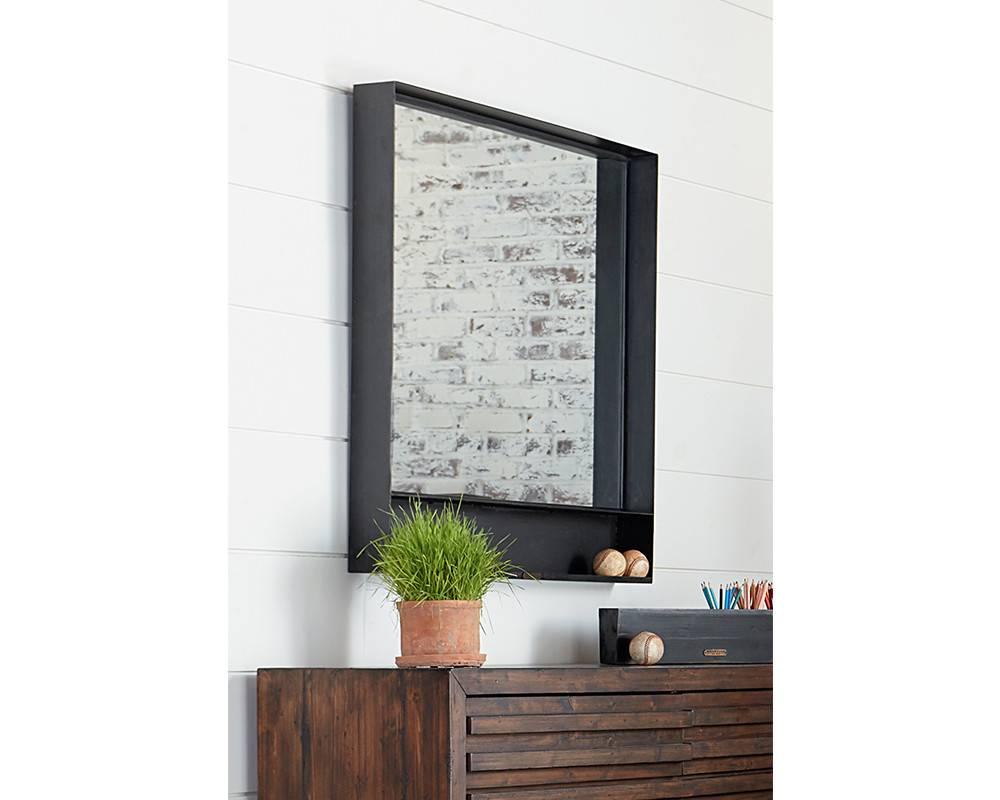 Magnolia Home Metal Cased Black Mirror