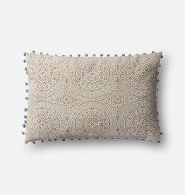Magnolia Home Small Pom Grey Slate Pillow