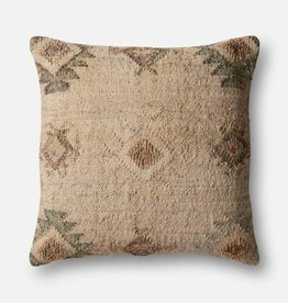 Magnolia Home Jute Textured Pillow Beige/Silver