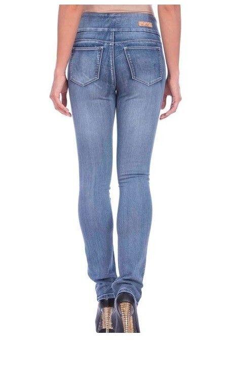Lola Jeans Rebeccah High Rise Straight Jean Medium Lt Blue