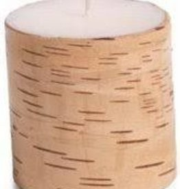 "Zodax Birchwood Pillar Candle 5"" x 3.75"""