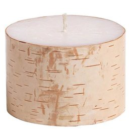 "Zodax Birchwood Pillar Candle 3"" x 2"""