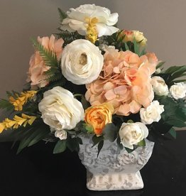 Romantic Mix in Ivory Terra Cotta Planter