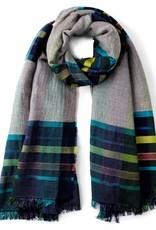 Echo Varsity Stripe Blanket Wrap Maritime Navy Blue