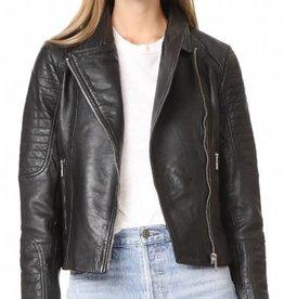 BB Dakota Dominic Garment Dyed Leather Jacket Black