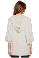 BB Dakota Heather Hooded Knit Sweater Heather Grey