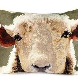 Sheep Needlepoint Pillow