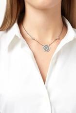 Freida Rothman Industrial Finish Round Pendant Necklace