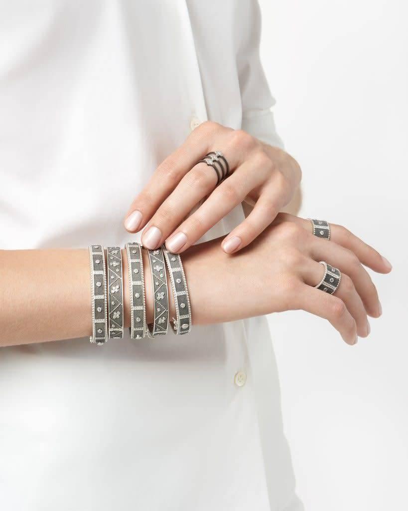 Freida Rothman Industrial Finish Caged Ring