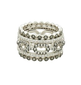 Freida Rothman Industrial Finish 5 Stack Ring