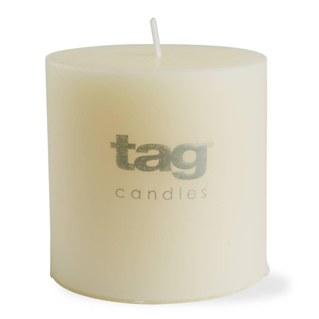 2x2 White Mini Pillar Candle Set of 4