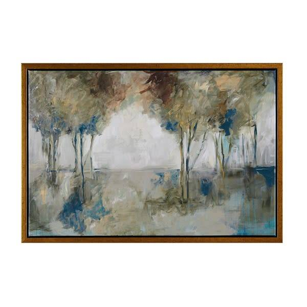 Muted Trees At Dusk Framed Canvas - Simply Elegant Boutique