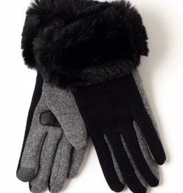 Echo Solid Faux Fur Cuff Glove