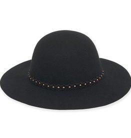 Wool Felt Floppy Hat with Antique Studs