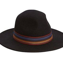 Wool Felt Safari Hat w Multi Ribbon Trim