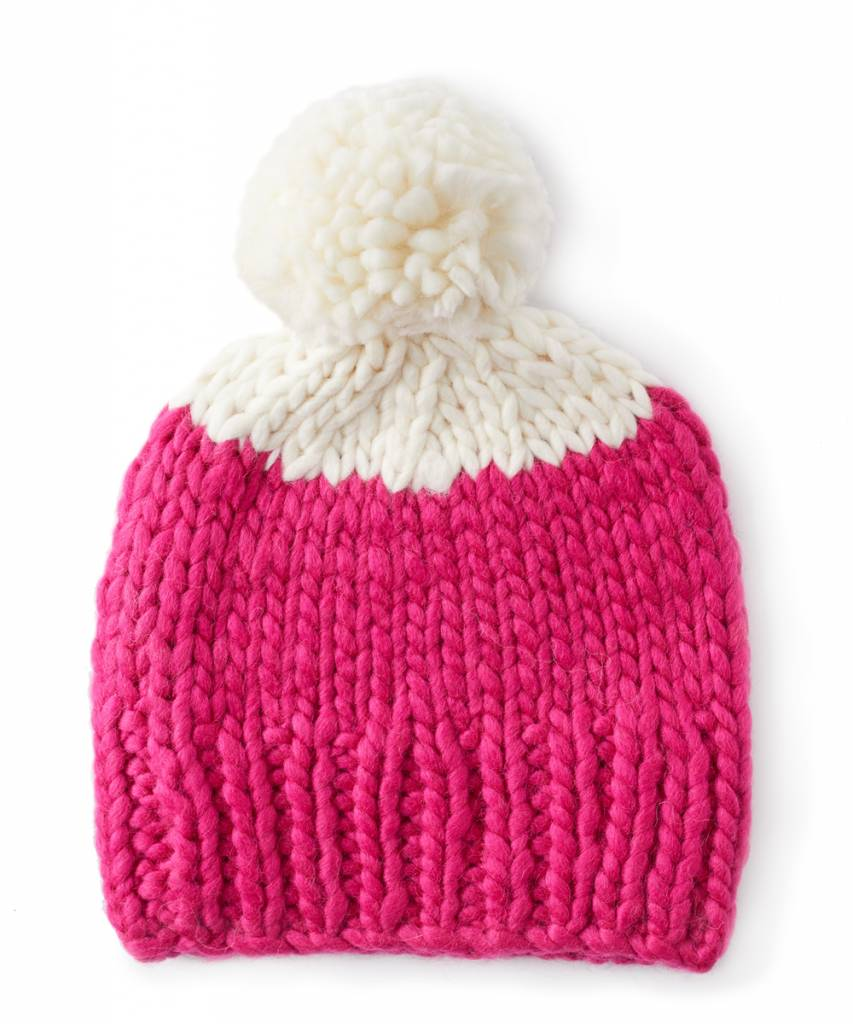 Echo Two Tone Hand Knit Roving Hat