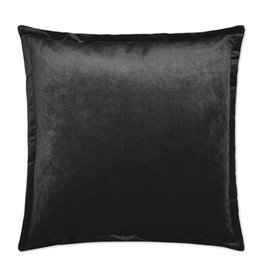 Belvedere Flange Pillow - Charcoal 24 x 24