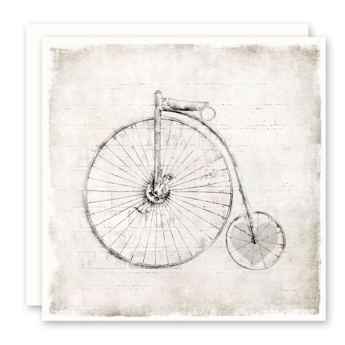 'bike heart' Greeting Card