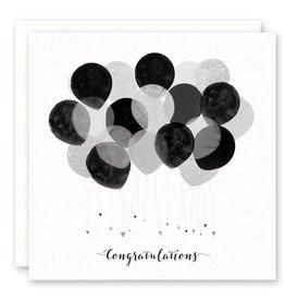 'congratulations' Greeting Card glitter