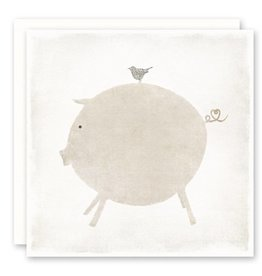 'pig and bird' Greeting Card