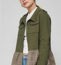 Woven Military Jacket Olive