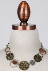 Chunky Coin Necklace - Silver/Gold Mix