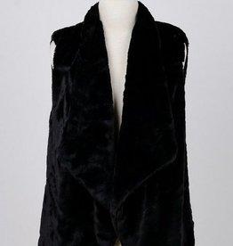 Drape Front Fleece Vest
