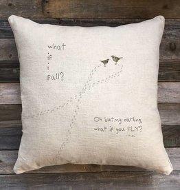 'What If' Natural Linen Pillow 22 x 22