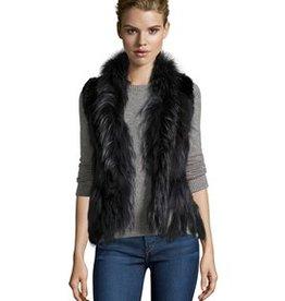 Linda Richards Rex/Raccoon Vest Indigo