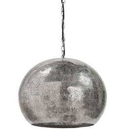Pierced Metal Sphere Pendant (Polished Nickel)