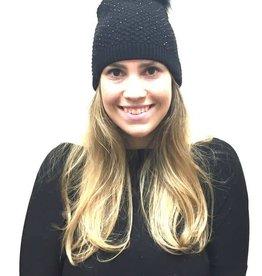 Alpine Crystal Knit Pom Hat