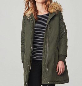 BB Dakota Emmers Hooded Anorak w/ Fur Trim Army Green