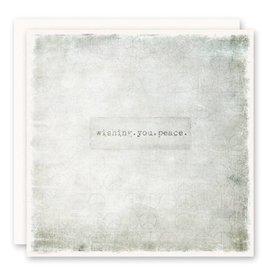 'wishing.you.peace' Greeting Card