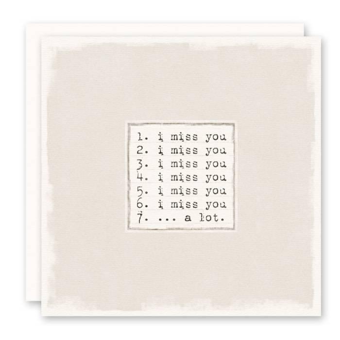 I miss you greeting card simply elegant boutique i miss you greeting card m4hsunfo
