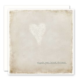 'thank you kind friend' Greeting Card