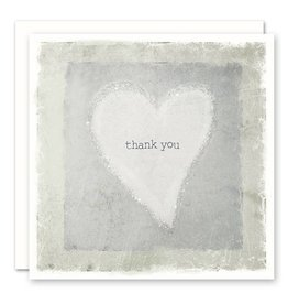 thank you heart - glitter Greeting Card