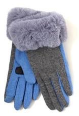 Echo Solid Faux Fur Cuff Glove