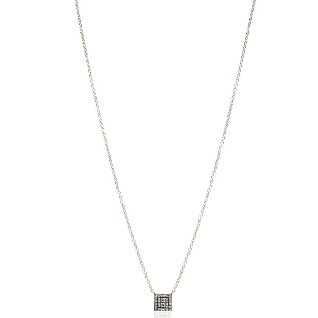 Freida Rothman Pave Square Pendant Necklace