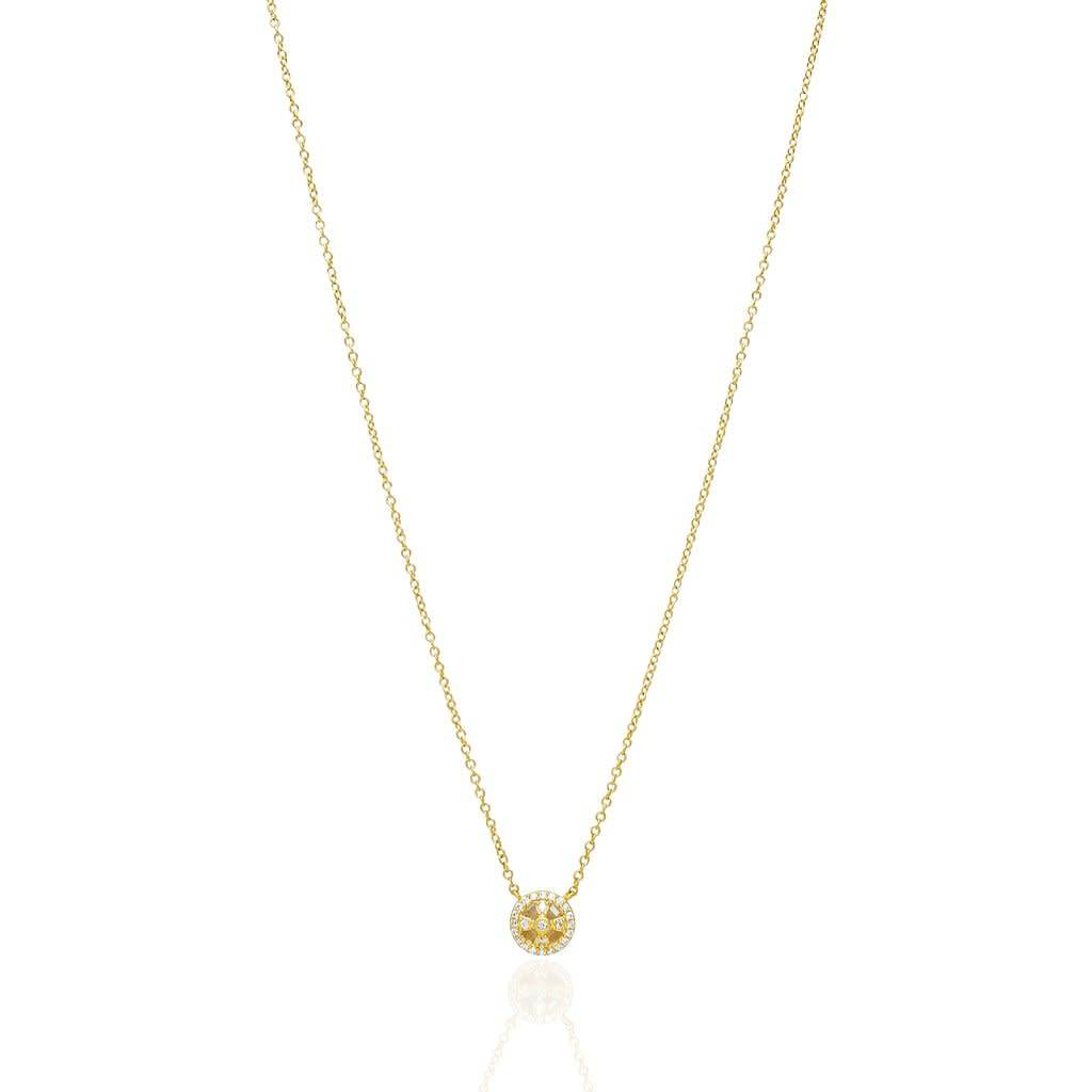 Freida Rothman Tiny Clover Cage Pendant Necklace