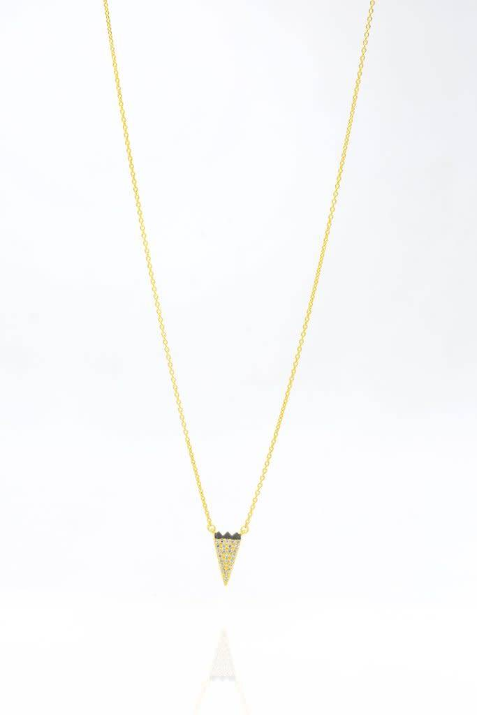 Freida Rothman Pave Arrow Necklace