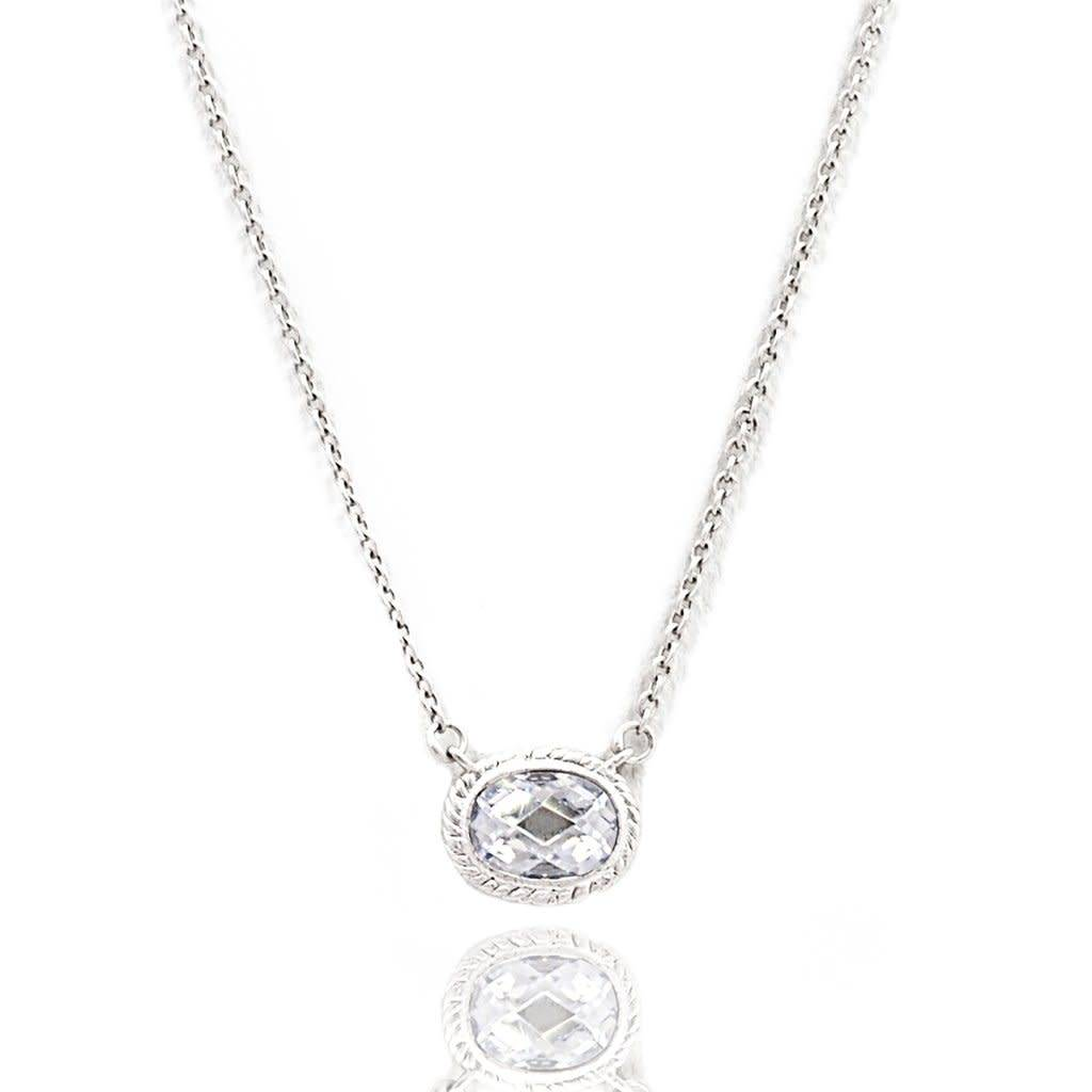 Freida Rothman Small Bezle Raindrop Pendant Necklace