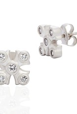 Freida Rothman Maltese Stud Earrings